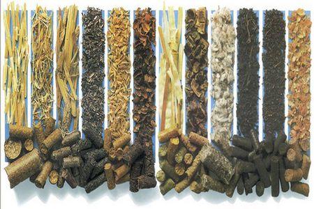 Несколько видов пеллет