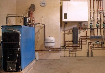 Пример подключения котла к системе отопления