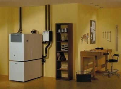Напольный двухконтурный электрокотел можно разместить в любом помещении
