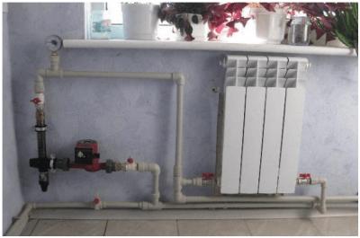Электродный котел Гейзер на 15 кВ в комнате