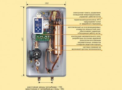 Схема электродного навесного котла