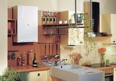 Одноконтурный котел на кухне