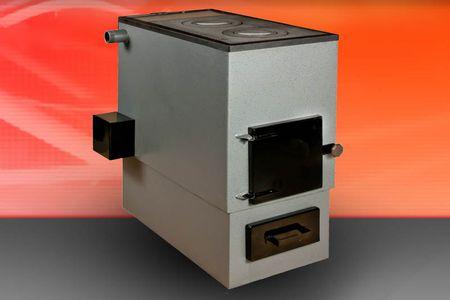 Твердотопливный агрегат стальной с электро ТЭНом