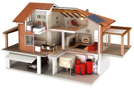 Схема отопления дома с твердотопливным котлом
