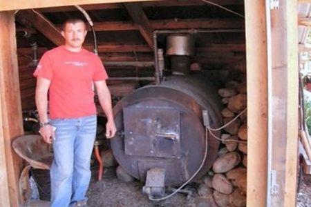 Самодельный котел отопления на дровах