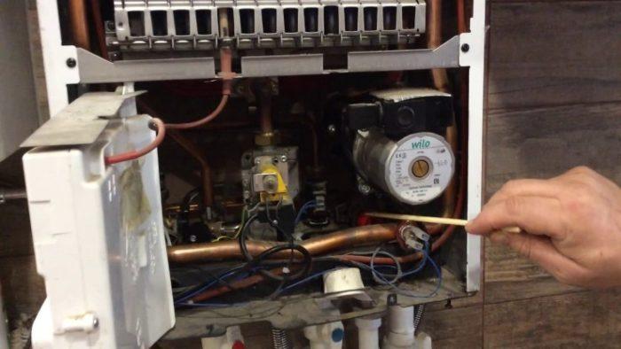 Процесс самостоятельной очистки газового котла