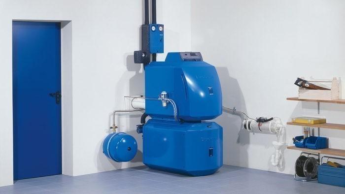 Пример установленного дизельного котла отопления