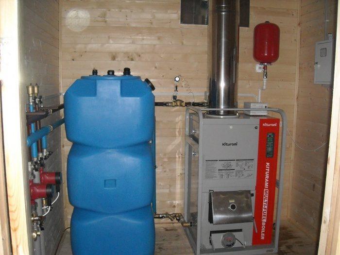 Смонтированный отопительный котел на дизельном топливе