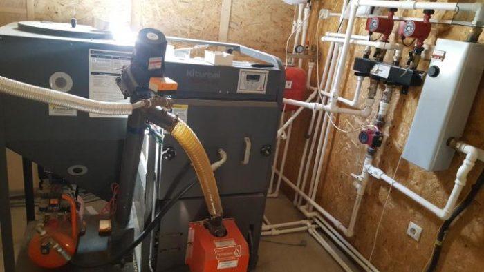 Подключение системы отопления на дизельном топливе