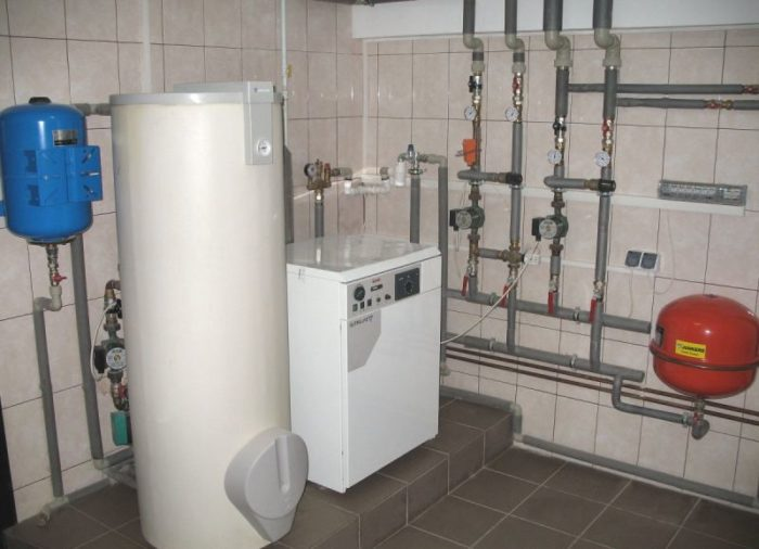 Готовая к работе система отопления в доме