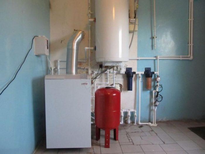 Готовая система отопления в доме