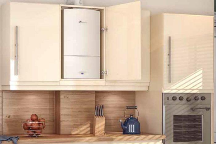 Вариант расположения газового котла в доме