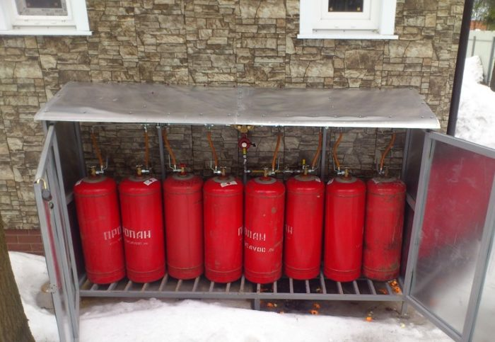 Баллоны для отопления сжиженным газом