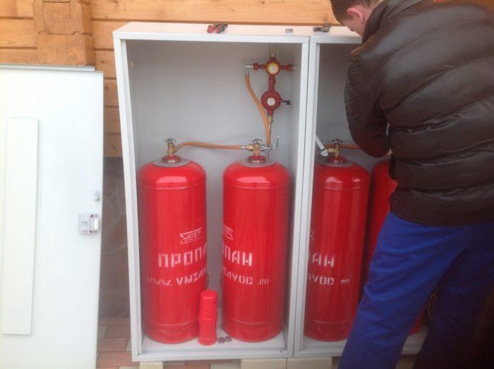 Пример газового котла на сжиженном газе