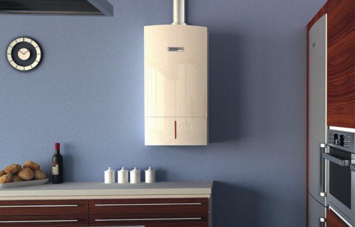 Вариант установленного газового котла в доме