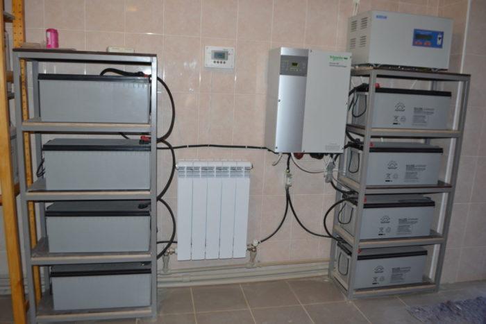 Вариант установки ИБП вместе с газовым котлом