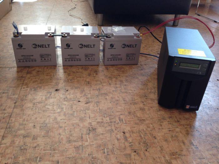 Установленная система с ИБП для газового котла