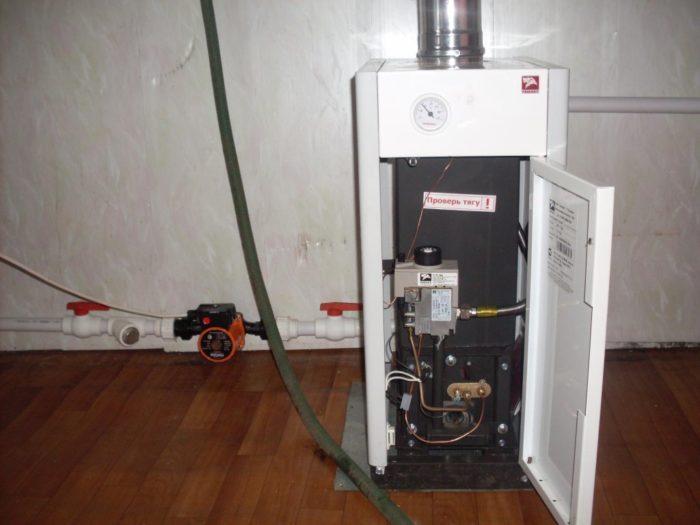 Процесс запуска газового котла