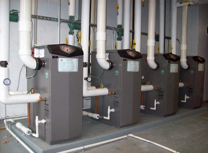 Пример системы отопления на отработанном масле