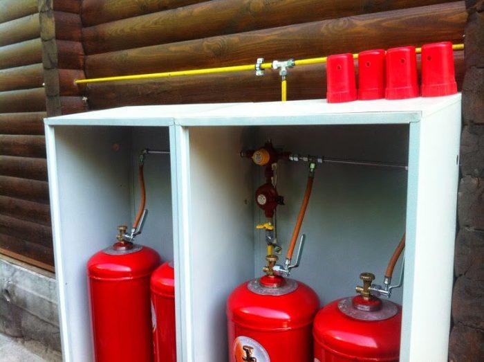 Отопление частного дома баллонами на сжиженном газе