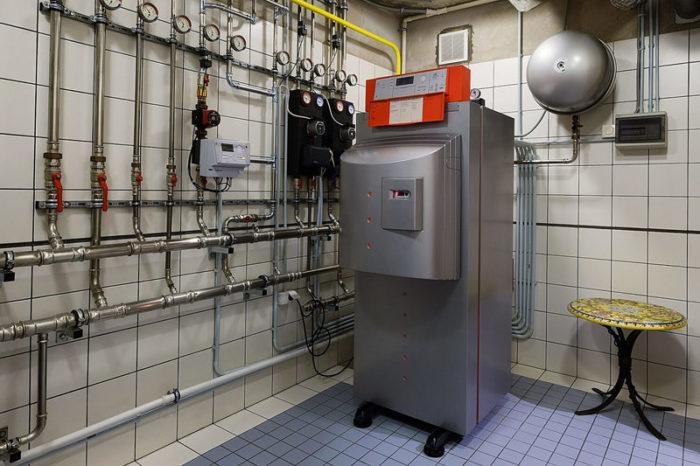 Пример установленного газового котла