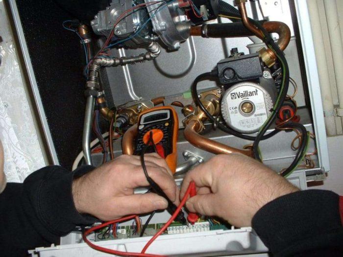 Диагностика неисправности газового котла