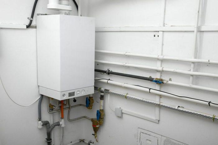 Вариант установленного в доме газового котла