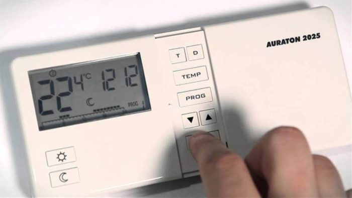 Установка температуры на терморегуляторе