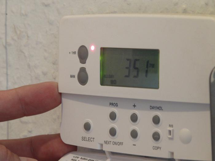 Установка температуры на термостате