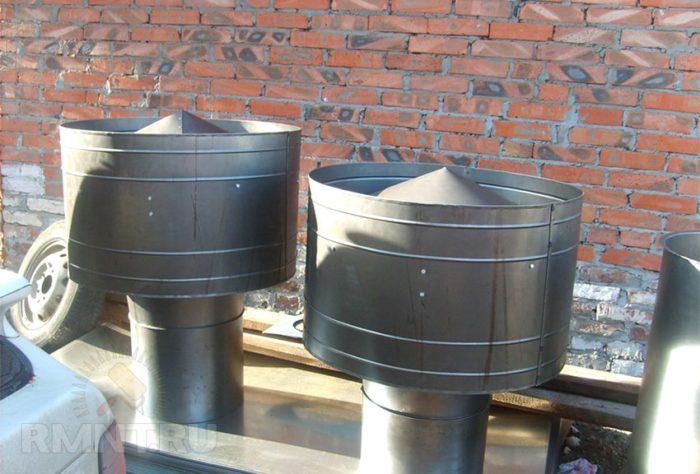 Грибок для трубы газового котла