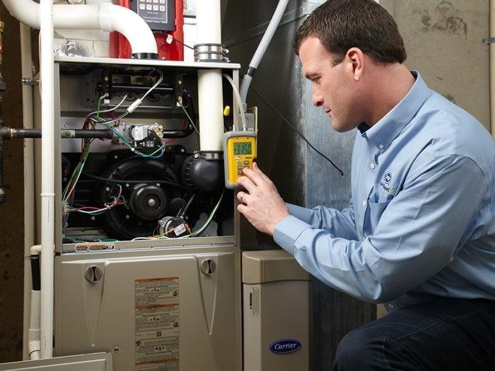 Процесс запуска напольного газового котла