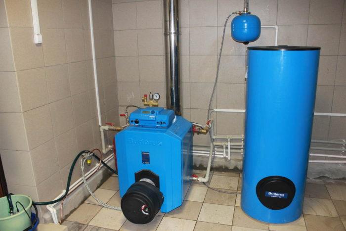 Отопительная установка на жидком топливе
