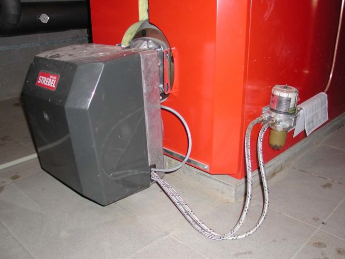 Пример котла на дизельном топливе